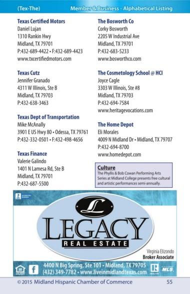Page 55 - Midland_Hispanic_Chamber_Directory